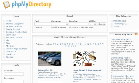 PHP Web Directory Script