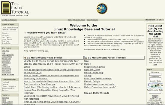 The Linux Tutorial Learn Linux