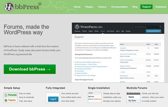bbPress Forum Software