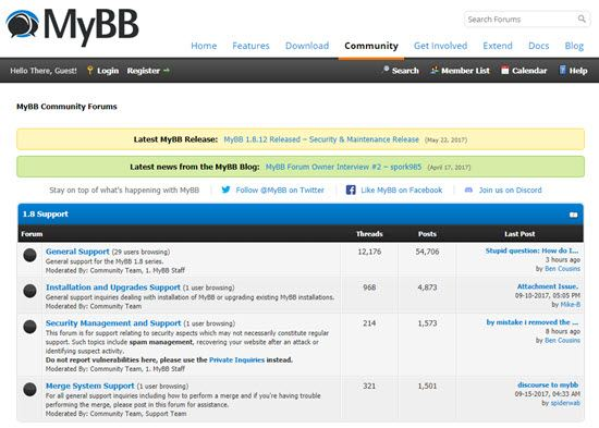 MyBB Forum Script