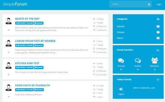 Simple Forum Forum Software