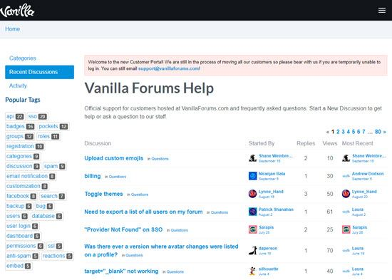 Vanilla Forums Forum Software