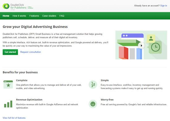 DoubleClick for Publishers - Advertisement Management