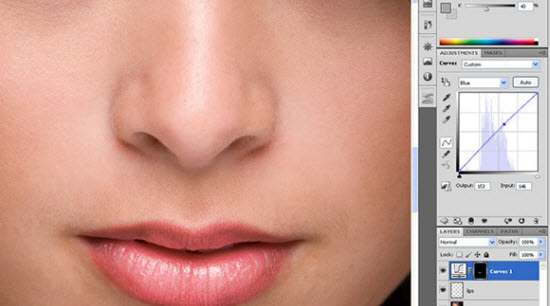 photoshop lip gloss