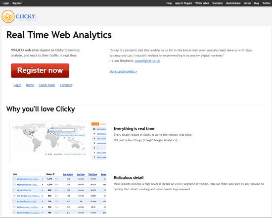 Clicky Visitor Tracking Services