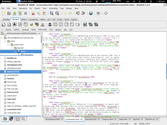 Bluefish Free HTML Editor