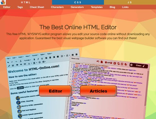 HTML Online Free HTML Editor
