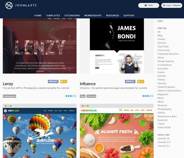 JoomlaXTC Buy Premium Joomla Template