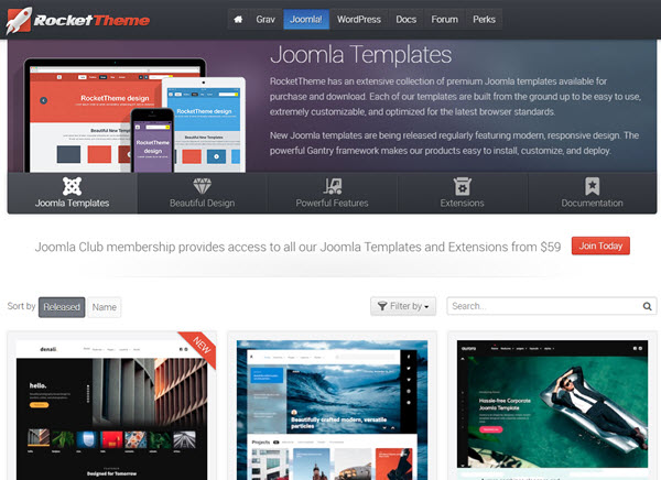 RocketTheme Buy Premium Joomla Template