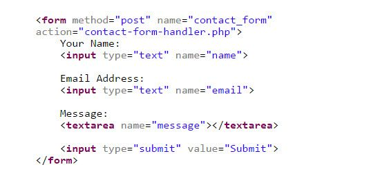 Free, Simple PHP based Email Contact Form