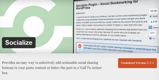 WordPress Social Bookmarking Plugin