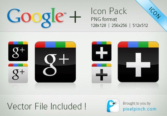 Google Plus Icons Set