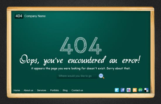 Creative No Page Found 404 Error Page Examples