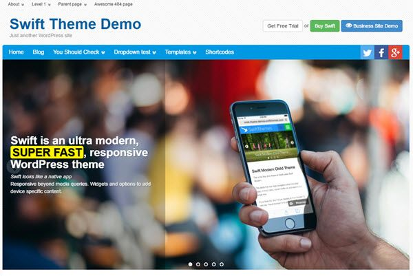Swift WordPress Theme Review