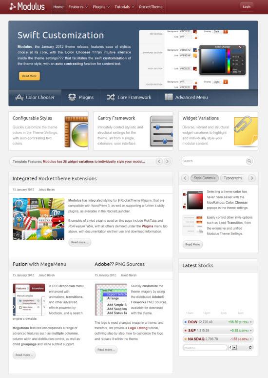 Modulus WordPress Theme