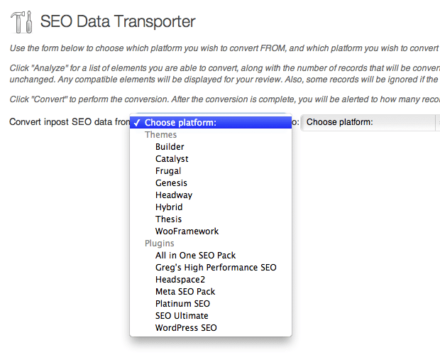 Transfer SEO Data