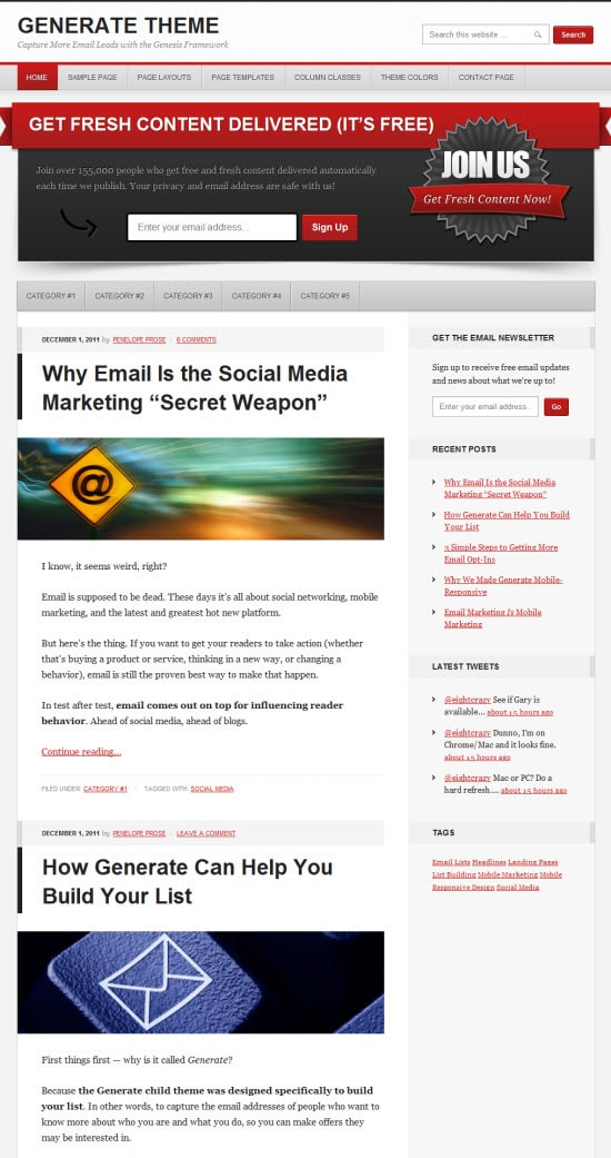 Genesis Generate Responsive WordPress Theme