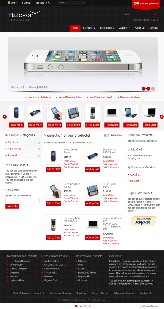 Halcyon Magento Template By RocketTheme