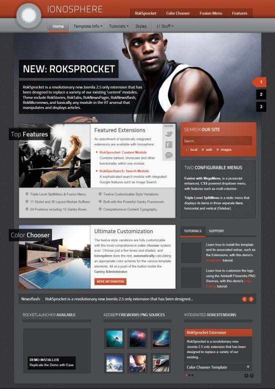 RocketTheme Ionosphere Joomla Template