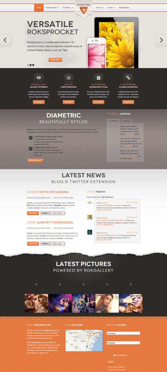 Diametric New Joomla Template by RocketTheme theme Template rockettheme rocket theme latest template Joomla template joomla download Diametric Joomla Template Diametric