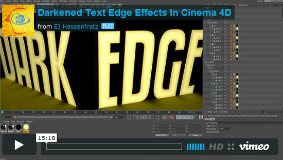 Cinema 4D Text Effect Tutorials