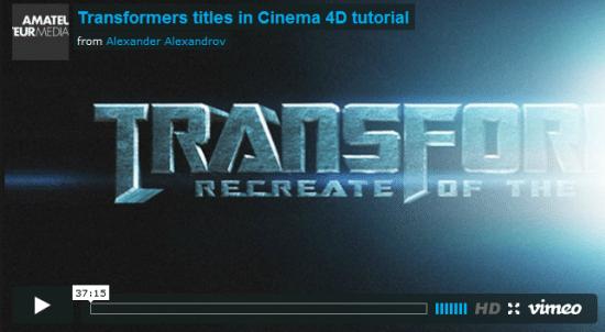 Cinema 4D Text Effect Tutorials