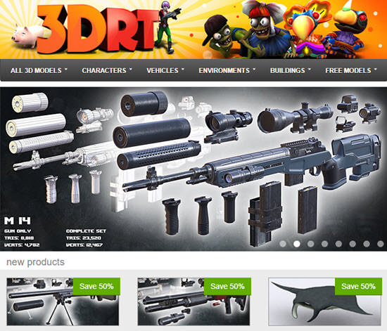 3DRT Buy and Sell 3D Models