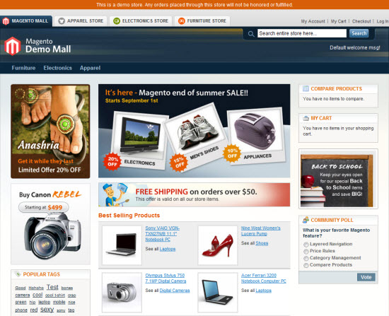 Magento Community E-Commerce software