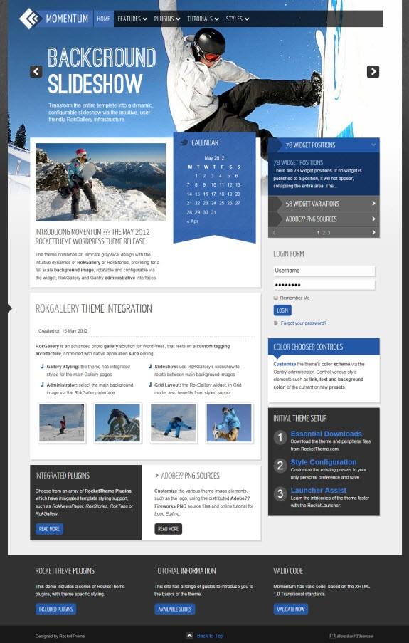 Momentum WordPress Theme