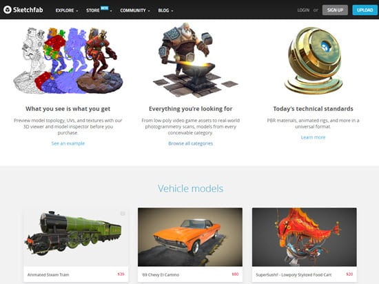 Sketchfab Buy 3D Models