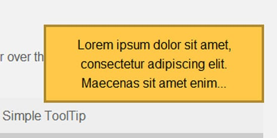 jQuery Tooltips Plugins