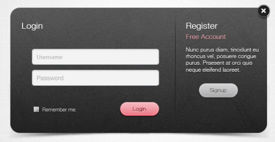 Login Form PSD