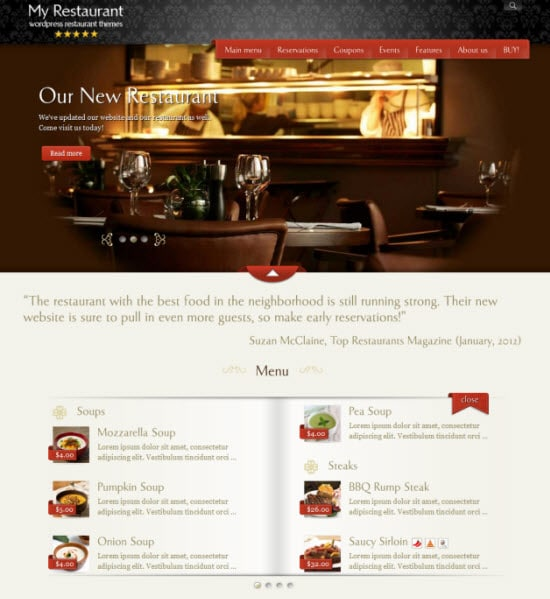 MyRestaurantTheme – Restaurant Website Template