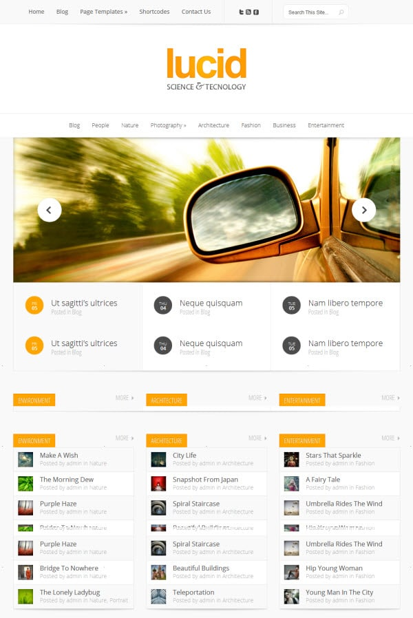 Lucid WordPress Theme from Elegant Themes