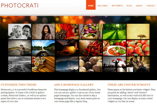 Photocrati WordPress Photography Theme