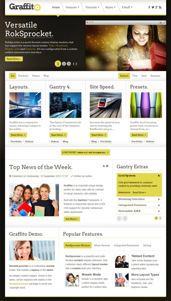 Graffito Joomla Template from RocketTheme