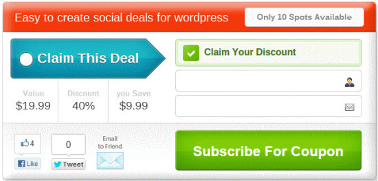 SocialDealPress a List Building WordPress Plugin