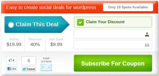 SocialDealPress a List Building WordPress Plugin