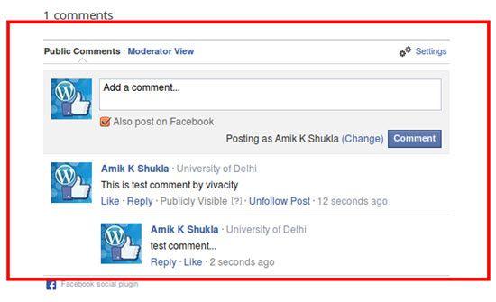 Facebook Comments WordPress Comment Plugins