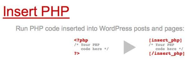 Insert PHP Code in a WordPress Post