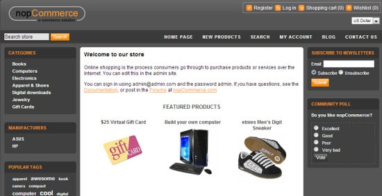 ASP Shopping Cart Software