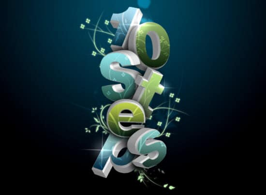 3D-Flowery-Text-Effect-photoshop