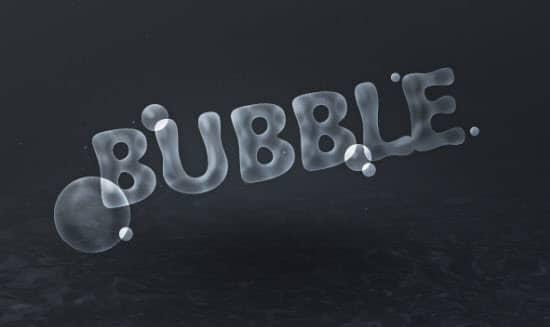 bubble-text-effect-photoshop