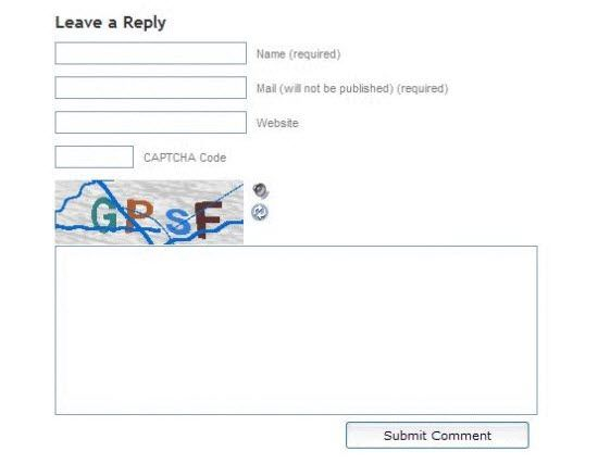 SI CAPTCHA Anti-Spam