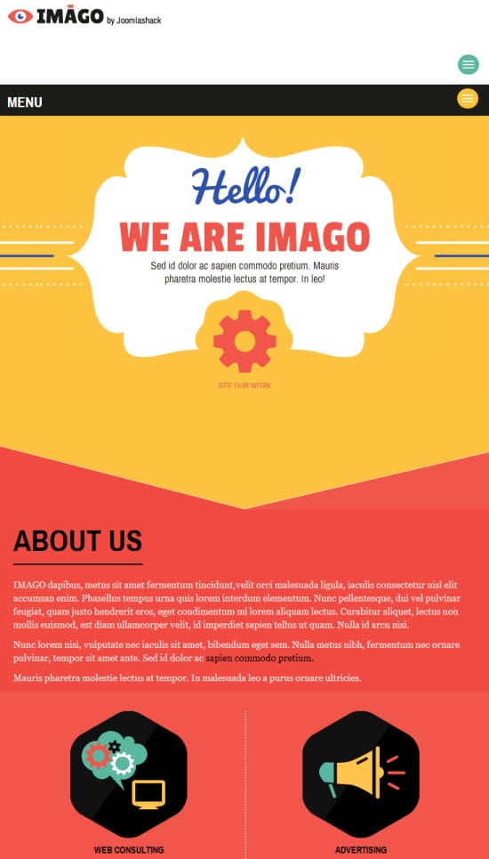 Colorful Joomla Template Imago from Joomlashack Joomlashack Joomla Template Imago Joomla template download