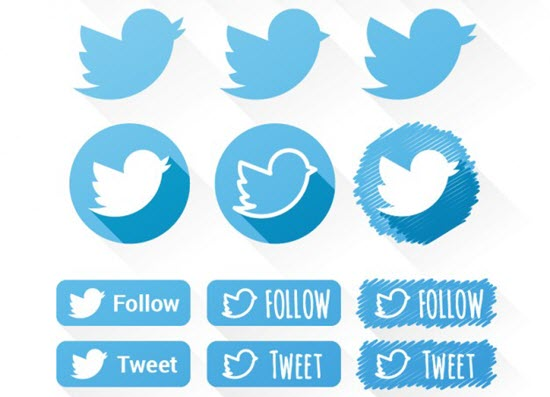 Twitter Vector Icons Set