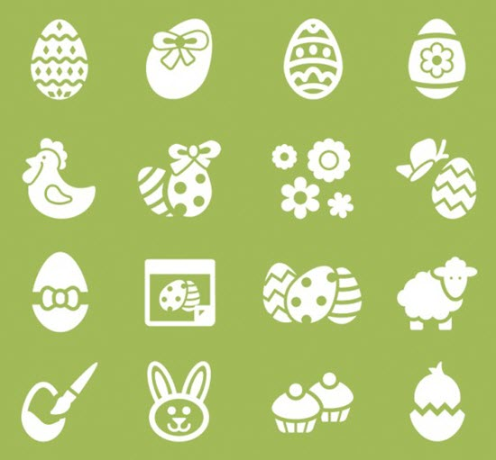 Free Easter Icons Set