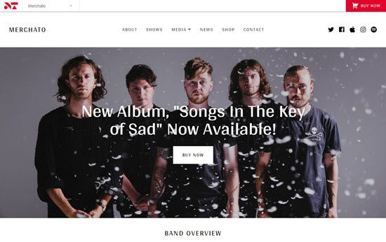 Merchato - Music and Band eCommerce Theme