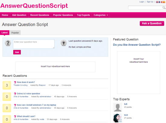 Question and Answer Software