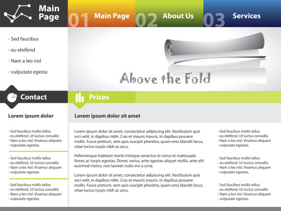 Above the Fold in Web Designing